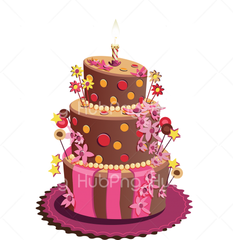 Download Birthday Cake Vector Png Transparent Background Image For Free Download Hubpng Free Png Photos